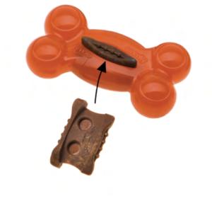 comfy pomarańczowa kość plug snack ztworzywa
